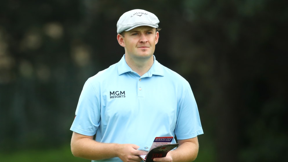 West Cornwall's Harry Hall was among the early leaders in round two of the 2020 South African Open at Randpark Golf Club