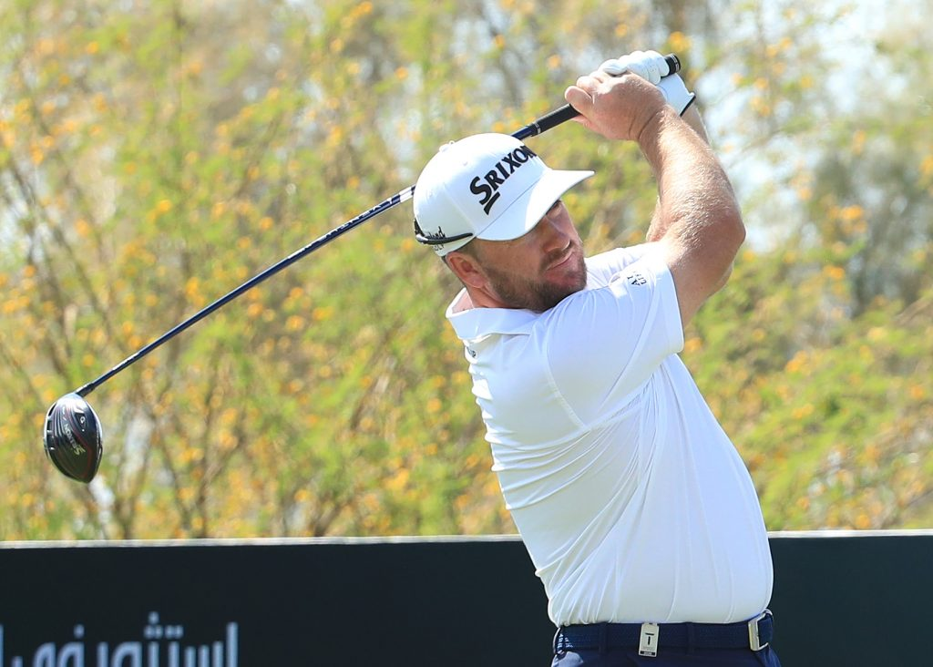 Graeme McDowell shared the first round lead in the 2020 Saudi International