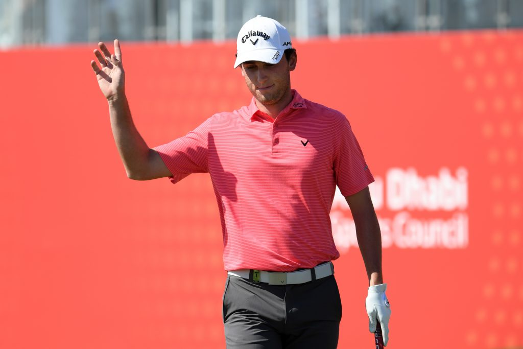 Renato Paratore during the first round of the 2020 Abu Dhabi HSBC Championship
