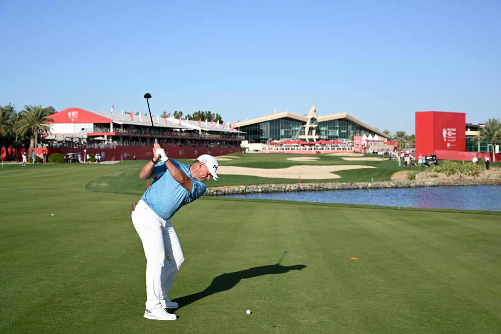 LEE WESTWOOD IN THE THIRD ROUND OF THE 2020 ABU DHABI HSBC CHAMPIONSHIP