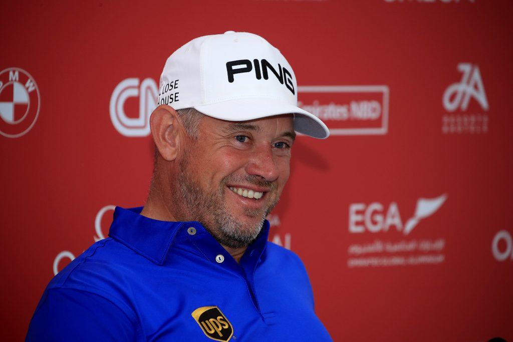 Lee Westwood before the 2020 Omega Dubai Desert Classic at the Emirates Golf Club