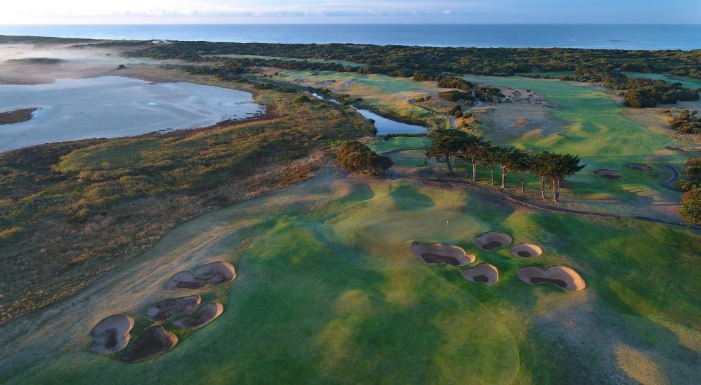 The 13th Beach Golf Links at Barwon Heads on the Bellarine Peninsula, which will host the 2020 ISPS Handa Vic Open