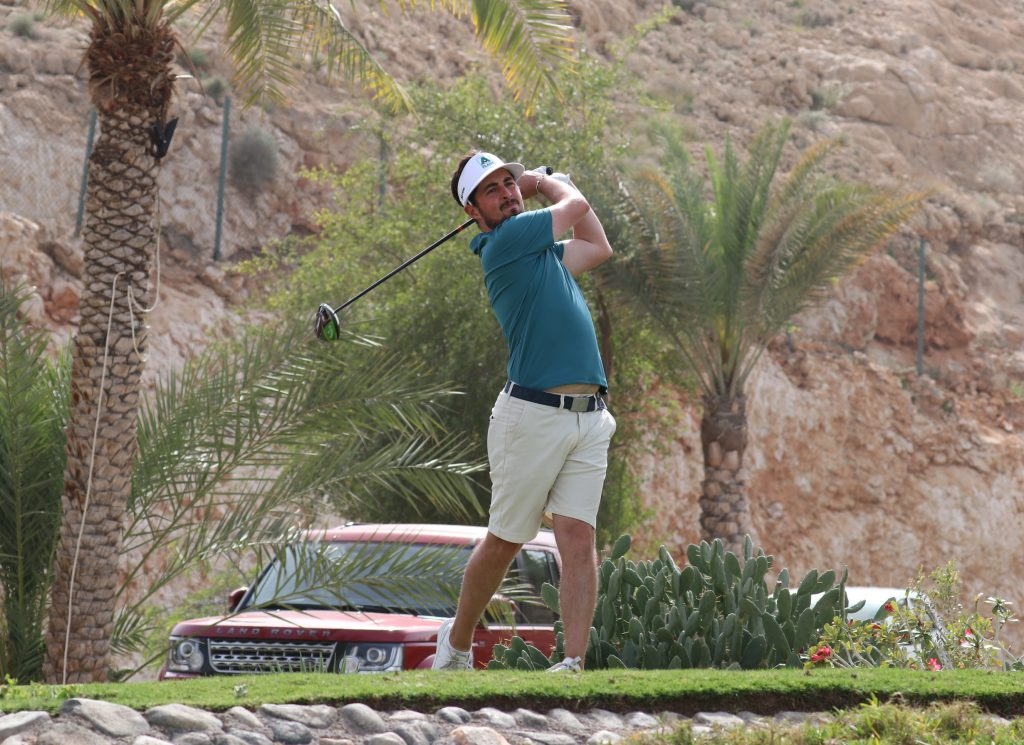Kent's Alfie Plant in the first round of the 2020 Ghala Open on the MENA TOUR , in Muscat, Oman