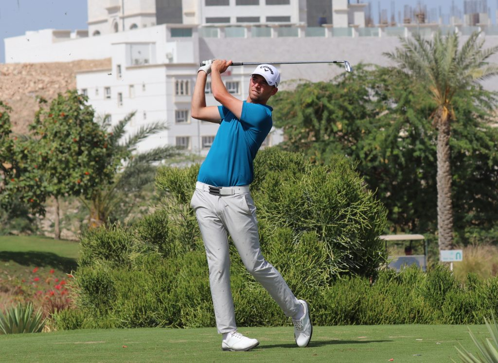 Left-hander Bailey Gill, from Lindrick Golf Club playing in the final round of the 2020 Ghala Open, at Ghala Golf Club, Muscat, Oman