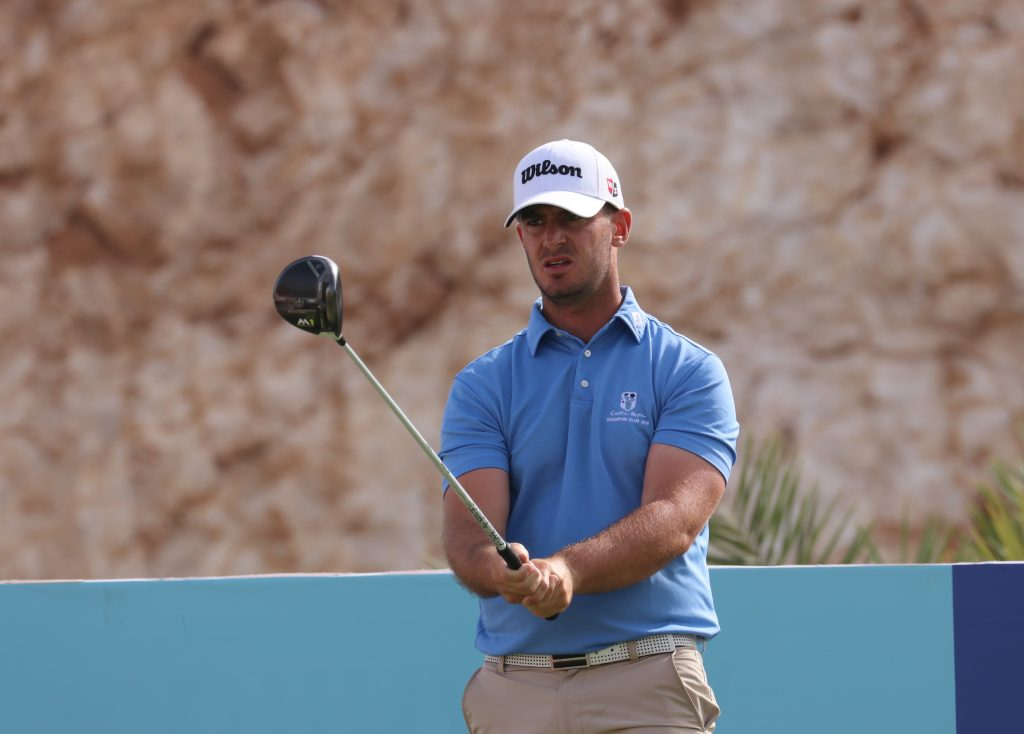 Castle Royle's David Langley, the second round leader of the 2020 MENA Tour Ghala Open, in Muscat, Oman