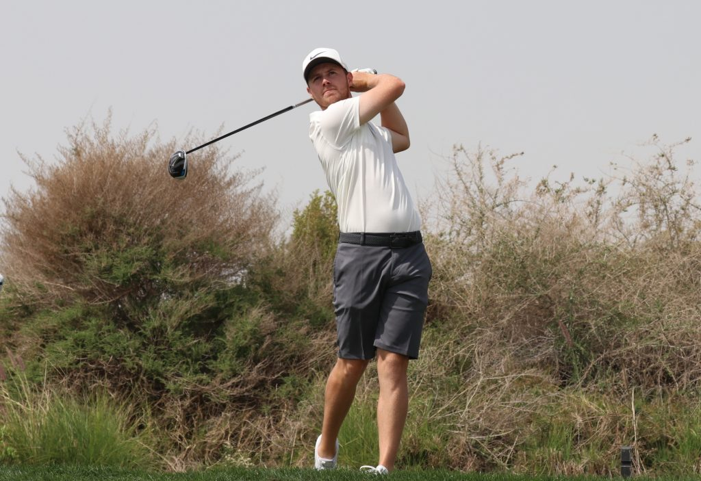 Wentworth's Harry Ellis during a practice round for the MENA Tour's Royal Golf Club Bahrain Open