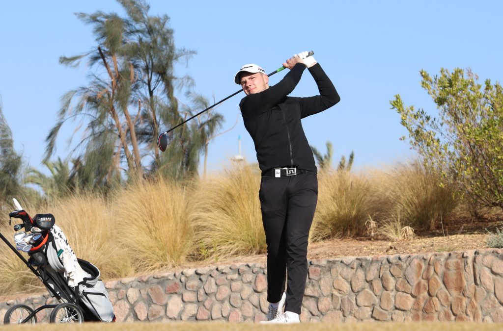 Curtis Knipes who led after the first rounf of the MENA Tour's 2020 NewGisa Open