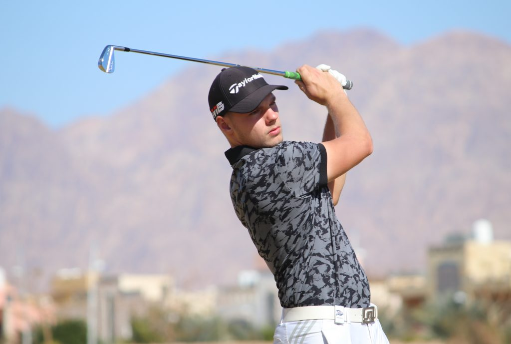 Essex rookie Curtis Knipes leads the 2020 MENA Tour NewGiza Open with a round to go but has Challenge Tour winner Sebestien Gros in his wing mirror