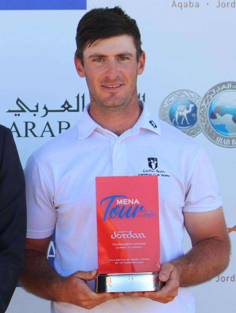 2020 Journey to Jordan No. 1 winner David Langley from Castle Royle Golf Club