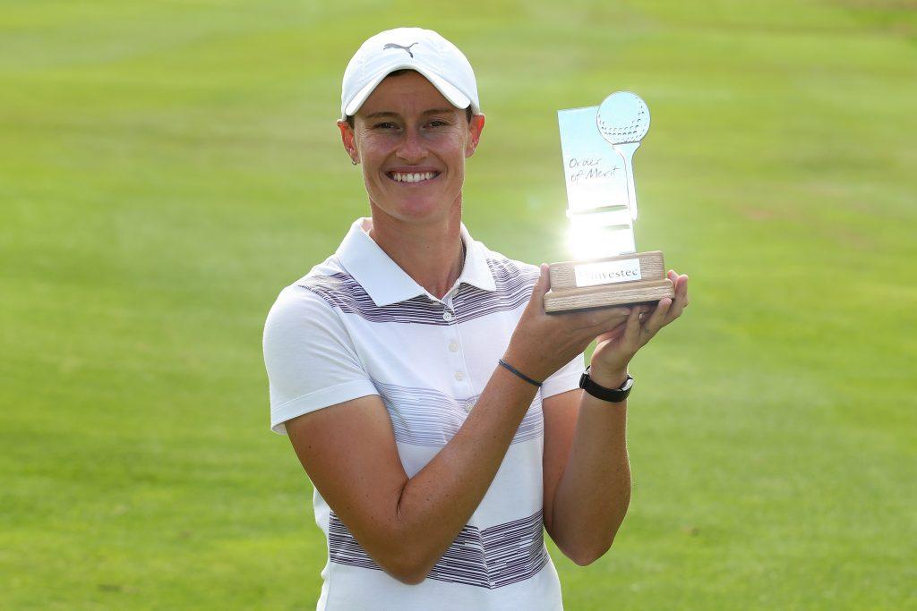 Investec Order Of Merit Winner Monique Smit at Westlake Golf Club, in Cape Town.