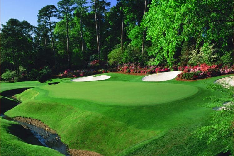 The 13th green at Augusta