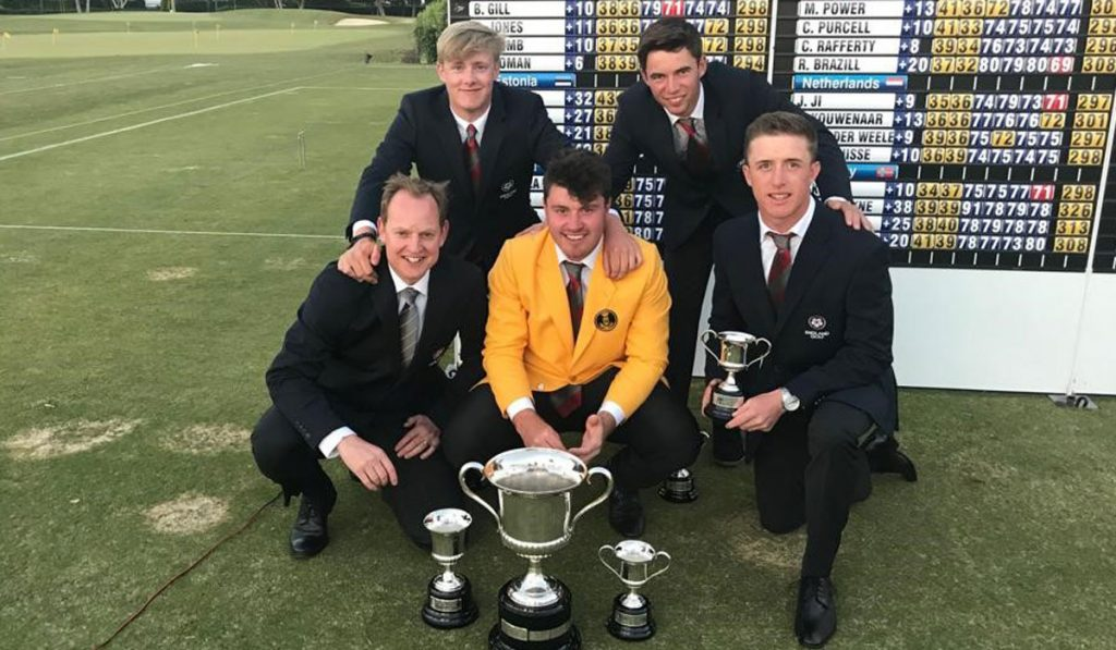 The England men's team who won the 2019 European Nations' Championship at Sotogrande Golf Club, in Spain.