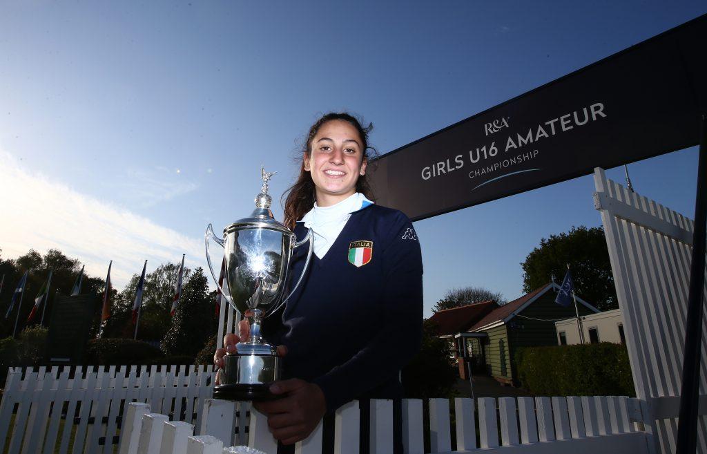 Italy's Francesca Fiorellini – the 2019 R&A Girls U16 Amateur Champion at Fulford.