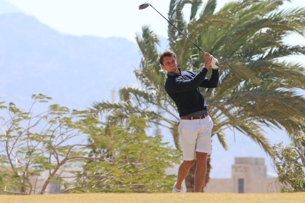 Royal Wimbledon's Ryan Lumsden leads the 2020 Journey to Jordan No. 2 at Ayla Golf Club, after two rounds