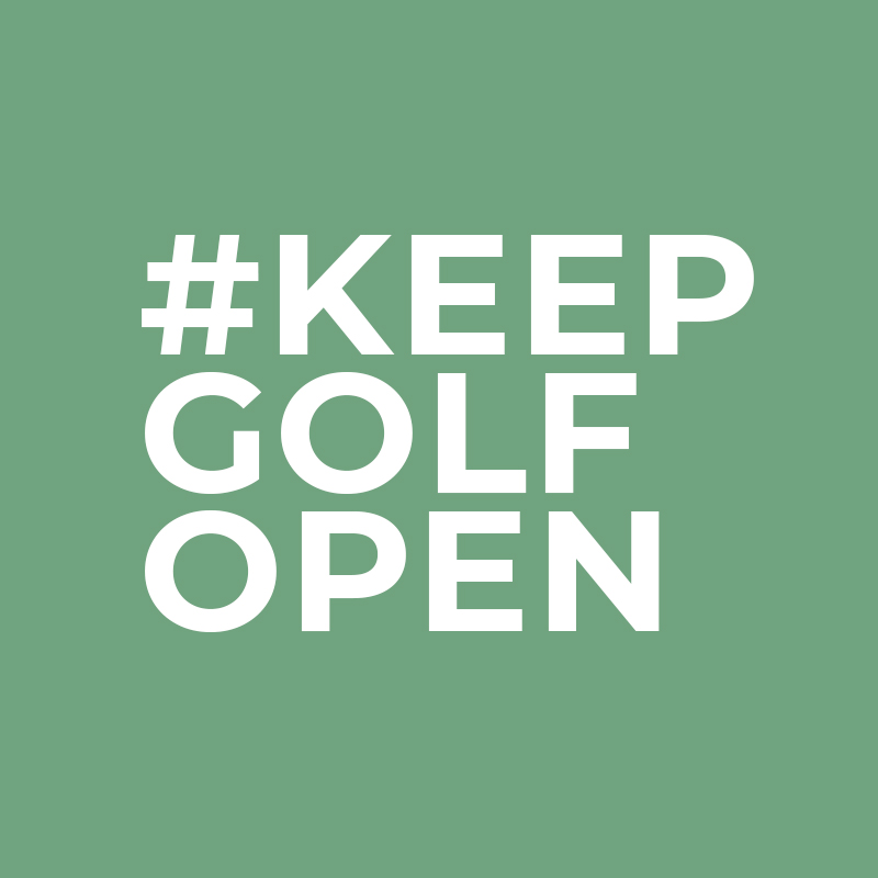 The UK Golf Federation has launched a petiton to Keep Golf Open at change.org