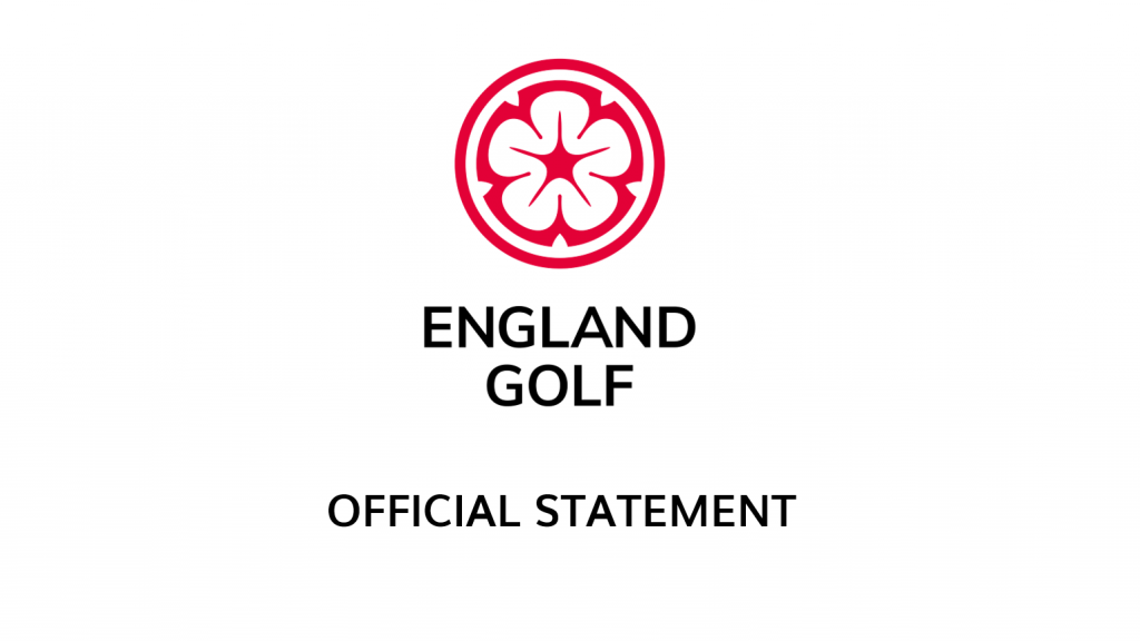 England Golf Statement Regarding Coronavirus