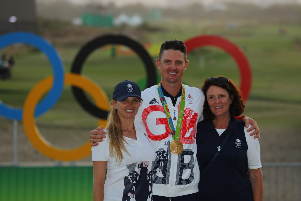 Justin Rose – with his wife Kate and mum Annie – has agreed to sponsor the Rose Ladies Series of women's professional golf events in 2020