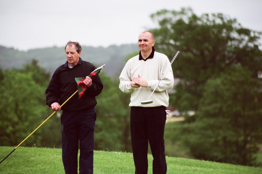 Former Wiltshire county captain Jeremy Tomlinson playing in the 2002 Wiltshire Amateur Championship