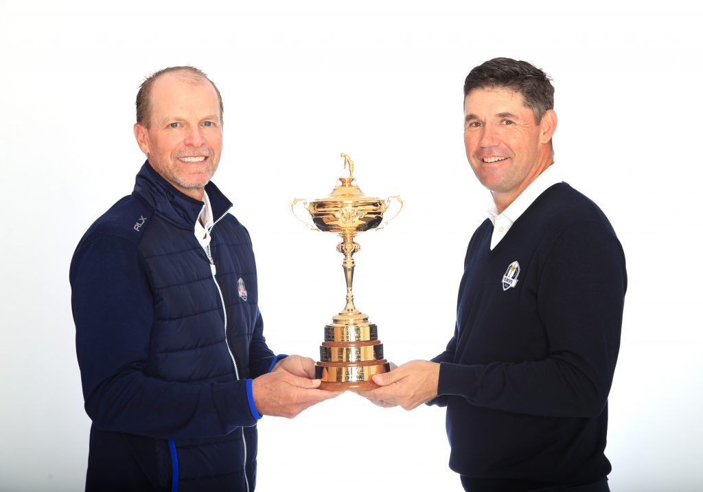 2020 Ryder Cup captains Steve Stricker and Padraig Harrington (right)