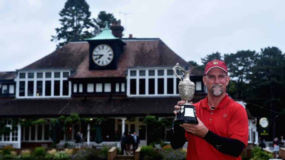 2015 Senior Open winner Marco Dawson at Sunningdale Golf Club