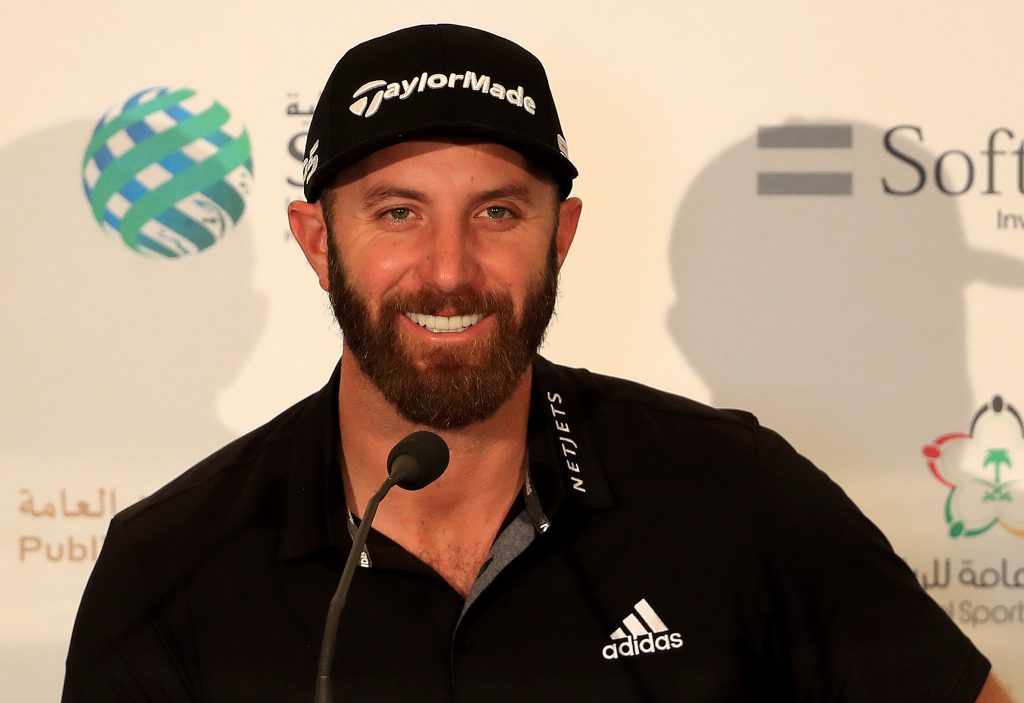 Dustin Johnson who will take part in the TaylorMade Driving Relief skins match with Rory McIlroy
