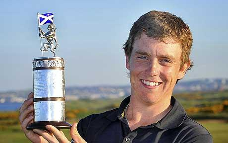 Tommy Fleetwood, winner of the 2009 Scottish Amateur Strokeplay Championship