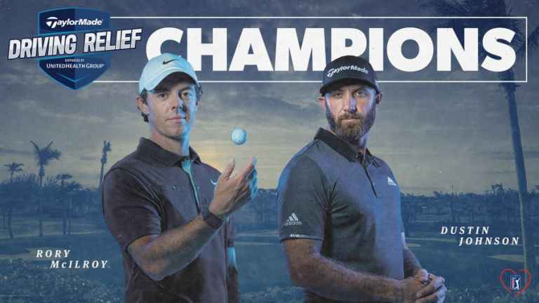 World No. 1 Rory McIlroy and Dustin Johnson won the TaylorMade Driving Relief skins match at Seminole Golf Club