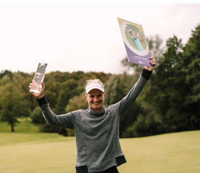 Ferndown's Hayley Davis, winner of the 2019 LET Access Series Order of Merit