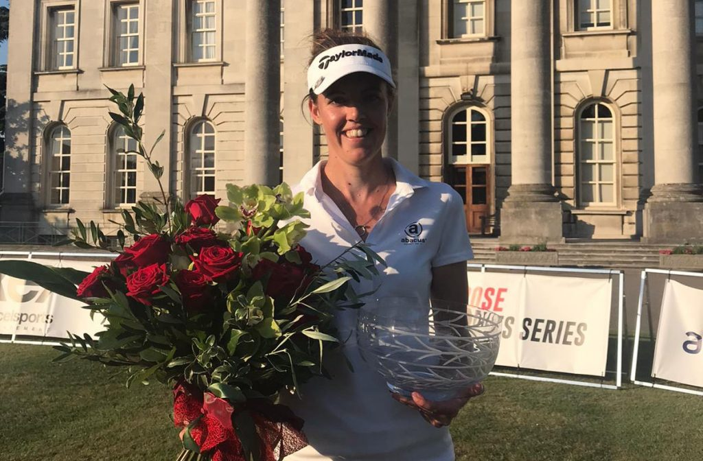 Meghan MacLaren won the second Rose Ladies Series event at Moor Park despite a two-shot penalty for paying the wrong ball