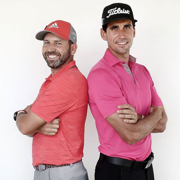 Sergio Garcia and Rafa Cabrera-Bello (right)