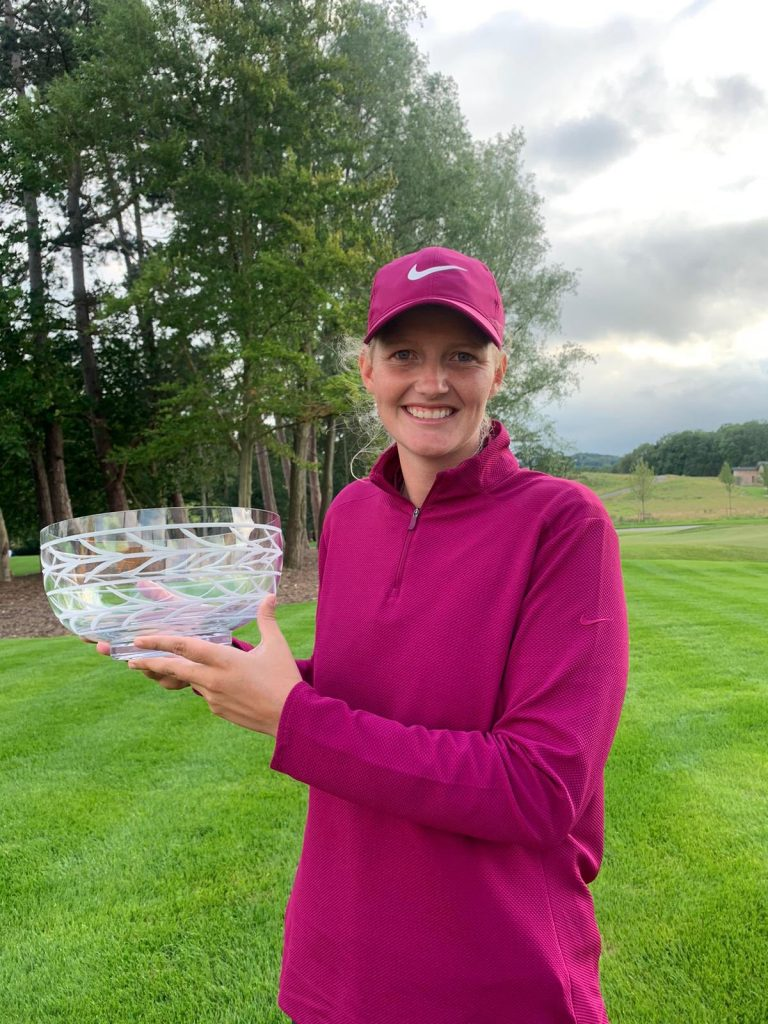 Gabriella Cowley was five-under par after 15 holes but finished on two-under to hold off the chasing pack in the fifth Rose Ladies Series event