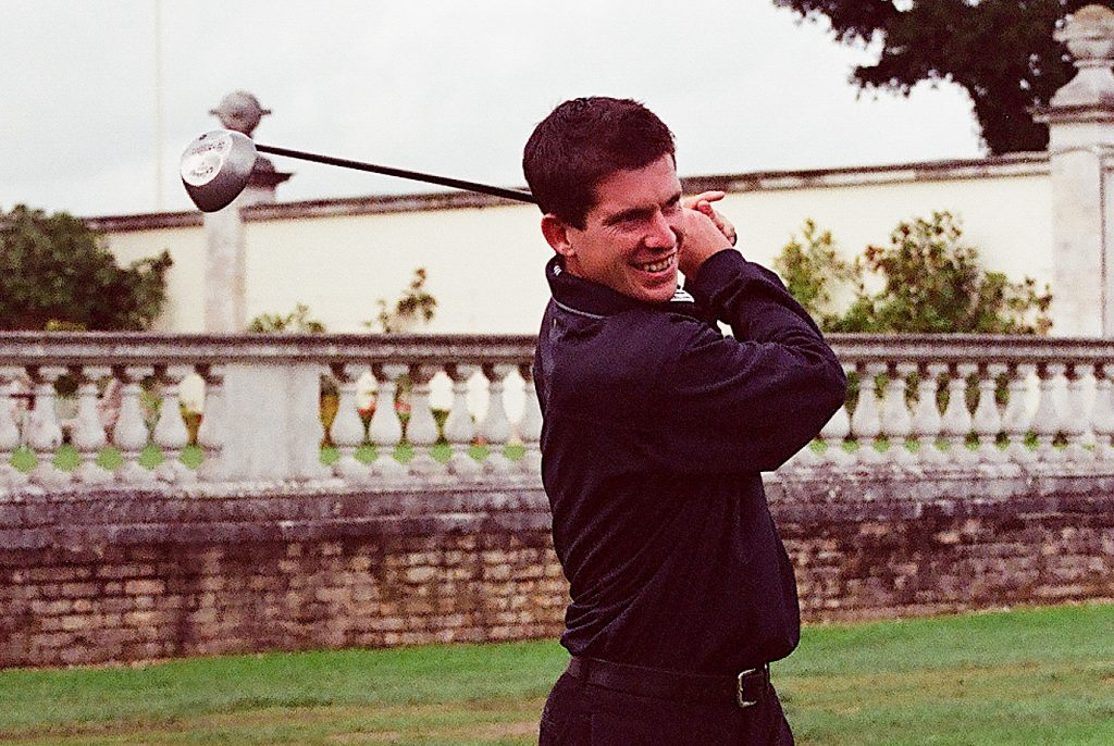 Tim Henman playing in a Sparks charity day at Stoke Park