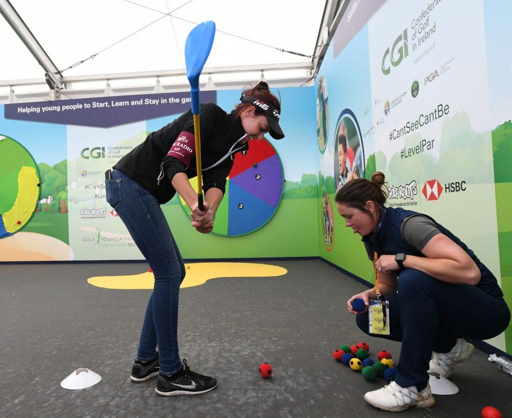 Golf Foundation ambassador Meghan MacLaren playing Trigolf