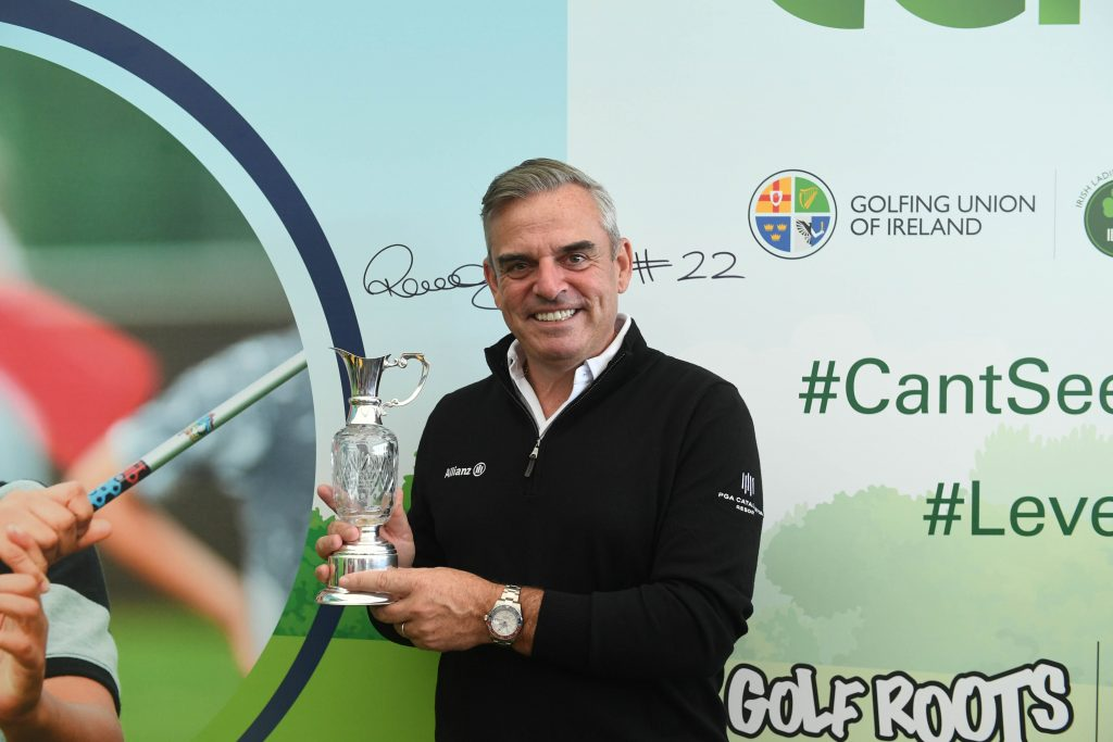2019 Spirit of Golf Award winner Paul McGinley