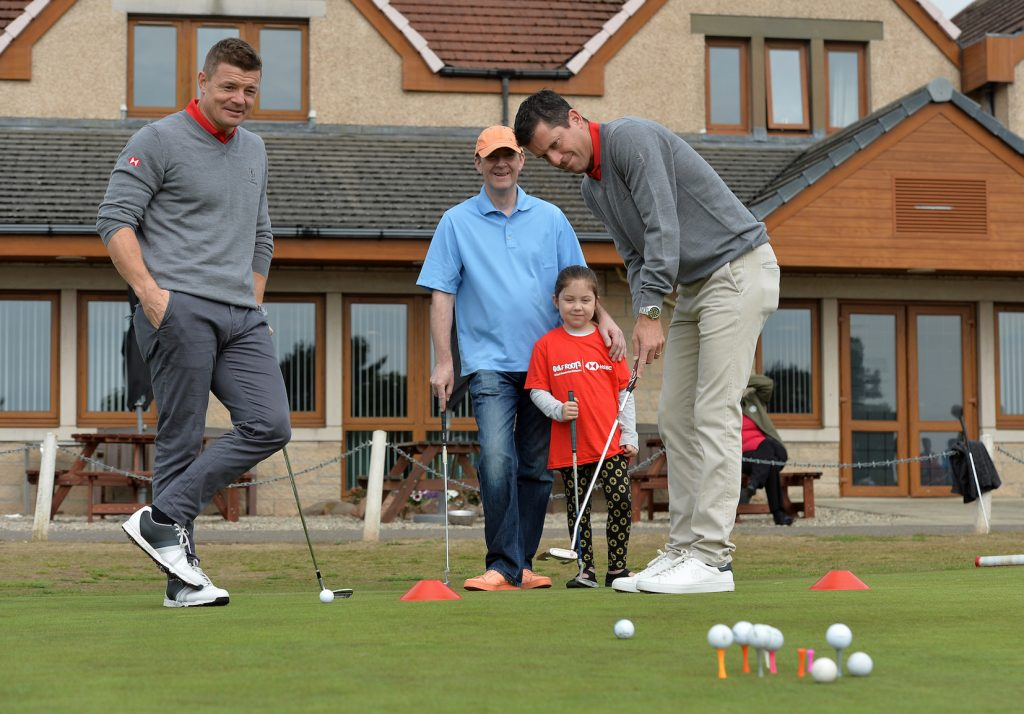 Tennis star Tim Henman working with the Golf Foundation at the 2018 Open at Carnoustie