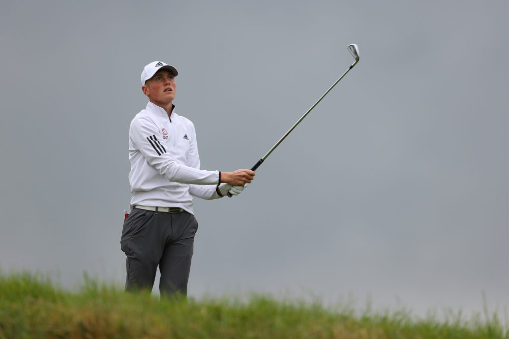 Rotherham Golf Club's Ben Schmidt playing in the second round of the 2020 Amateur Championship at Royal Birkdale