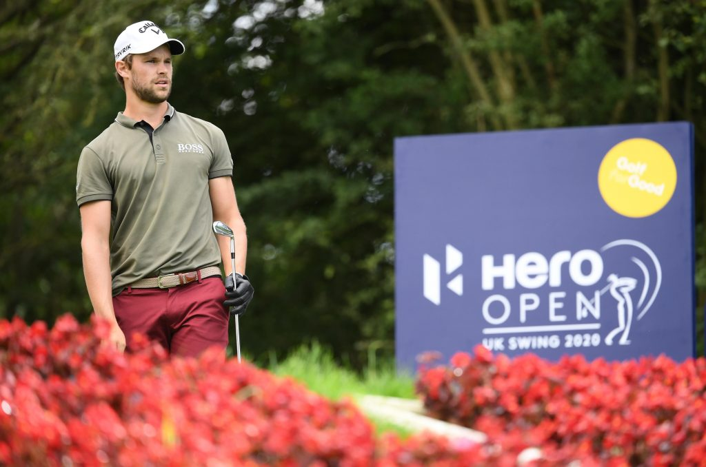 Belgium's Thomas Detry made a bogey at the last hole in the 2020 Hero Open at the Forest of Arden