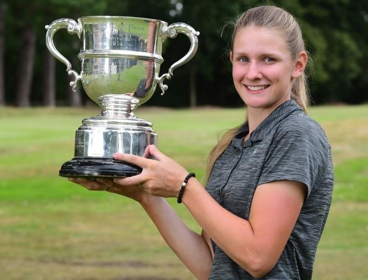 2020 English Women's Amateur Champion Emily Price, from Ludlow Golf Club, beat Essex's Lily May Humphrey 4&3 in the final at Woodhall Spa