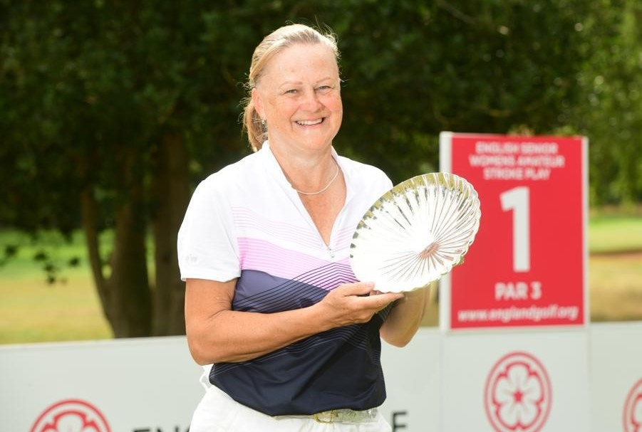 Minchinhampton's Jane Rees won the 2020 English Senior Women's Strokeplay Championship at Frilford Heath
