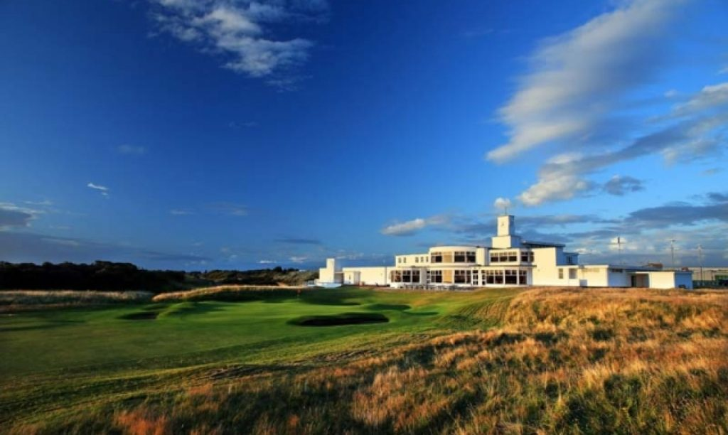 Royal Birkdale's famous Art Deco clubhouse – the club is staging The Amateur Championship for a fourth time in 2020