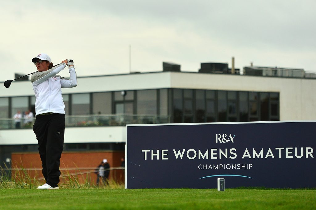Emily Toy the defending Champion in the 2020 Women's Amateur Championship at West Lancashire