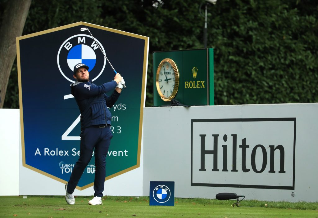 Harleyford Golf Club's Tyrrell Hatton shared the first round lead of the 2020 BMW PGA Championship at Wentworth