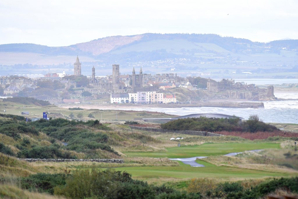 A view of St Andrews from the Torrance Course at Fairmont St Andrews