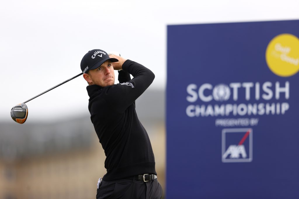 Matt Wallace during the final round of the 2020 Scottish Championship at Fairmont St Andrews