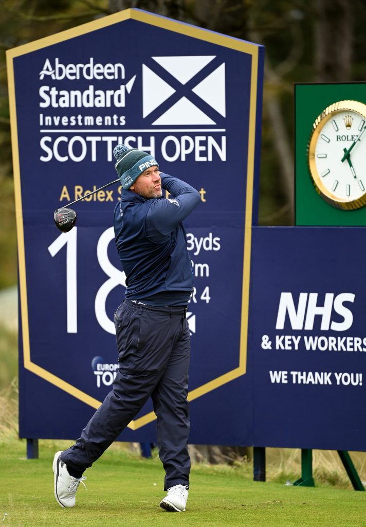 Lee Westwood who shot a 62 in the first round of the 2020 Scottish Open at The Renaissance Club at North Berwick